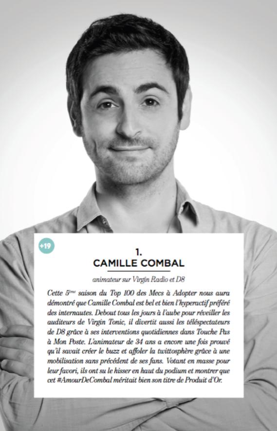 Camille Combal vainqueur du concours AdopteUnMec