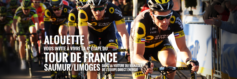 Alouette sur la route du Tour de France