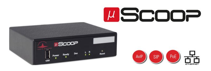 µScoop se contrôle à distance via sa page web dédiée. L'appareil est reconnu par son adresse MAC lorsqu'il est connecté au réseau Ethernet
