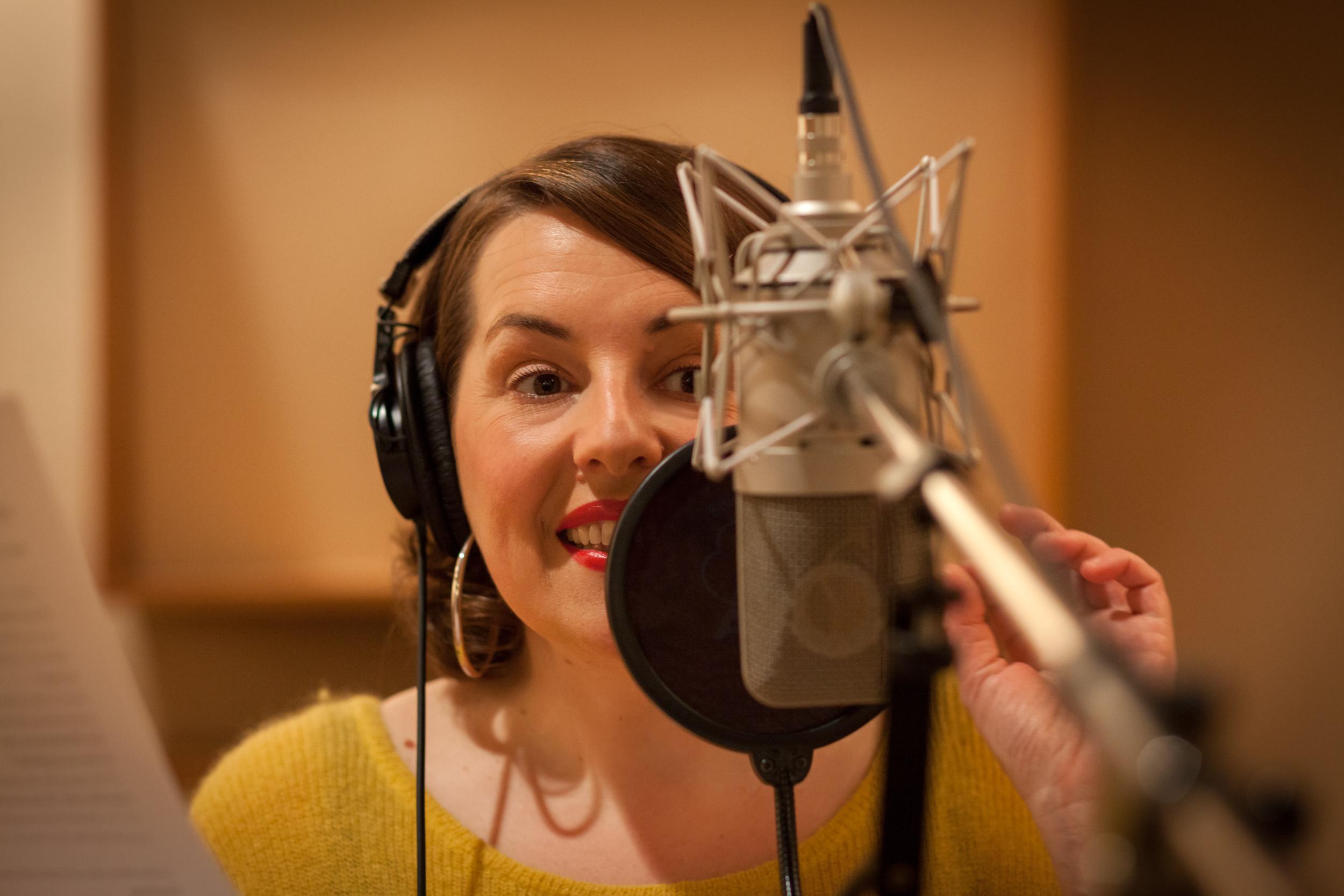 Virginie Bodin, speakerine à RTL, est l'une des 200 voix de l'association / Photo DR