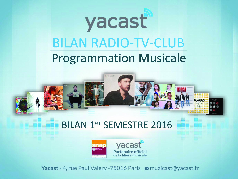 La nouvelle livraison du Bilan Radio-TV-Club. © Yacast