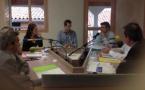 Animateurs et journalistes de Nosta Comminges lors de la campagne des élections municipales 2014. © PC.