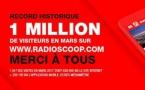 Radio Scoop : 1 million de visiteurs en mars sur le site