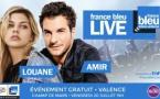"""Un """"France Bleu Live"""" avec Amir et Louane à Valence"""