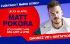 Matt Pokora invite les auditeurs de Radio Scoop dans son Loft à Lyon