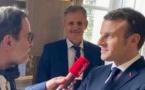 Emmanuel Macron s'exprime sur Vivre FM