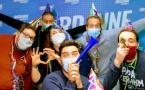 Toute l'équipe de Jordanne FM à l'occasion du Nouvel An 2021. © Jordanne FM.