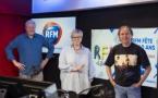 """Christian Savigny, Laurence Boccolini et Jean-Michel Canitrot ont fait revivre """"La Radio Couleur"""". © Florian Corcos."""