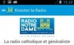 Radio Notre Dame dans une application