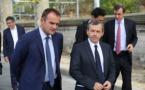 Alain Weill le patron de NextRadioTV (à droite) en compagnie de Frank Lanoux, le directeur de RMC (à gauche) © Serge Surpin