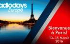 En 2016, les Radiodays Europe auront lieu à Paris