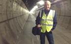 Lionel Gougelot dans le tunnel de service du tunnel sous la Manche.