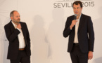 Jean-Éric Valli avec Laurent-Éric Le Lay, président de TF1 Publicité. Si la conjoncture est difficile, grâce à la flexibilité des Indés, TF1 parvient à proposer des packages très compétitifs aux annonceurs.