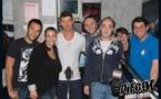 L'équipe inoxydable recevait ce soir-là Robin Thicke. À droite de Difool (avec le casque), ses deux compères au premier plan : Romano et Cédric le Belge.