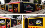 L'un des jolis coups de ce début de saison : Flor FM a carrément floqué à ses couleurs un tramway de Mulhouse, pendant 10 jours. Imparable !