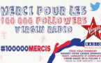 Virgin Radio : 100 000 followers sur Twitter