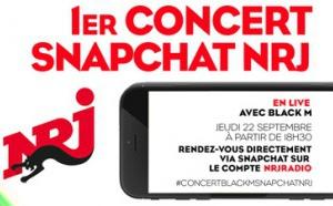 NRJ réalise le 1er concert sur Snpachat