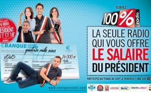 100% offre le salaire du Président de la République