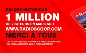 Radio Scoop : 1 million de visiteurs en mars sur le site