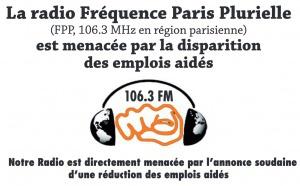 Fréquence Paris Plurielle menacée par la disparition des emplois aidés