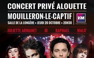 Alouette : un concert privé avec 4 artistes