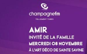 Champagne FM reçoit le chanteur Amir