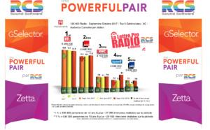 Diagramme exclusif LLP/RCS GSelector 4 - TOP 5 radios Généralistes en Lundi-Vendredi - 126 000 Radio Septembre-Octobre 2017