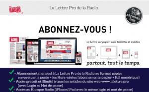 Abonnez-vous à La Lettre Pro de la Radio