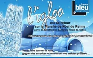 France Bleu Champagne-Ardenne sous un igloo à Reims