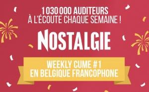 CIM Belgique : 1 030 000 auditeurs pour Nostalgie