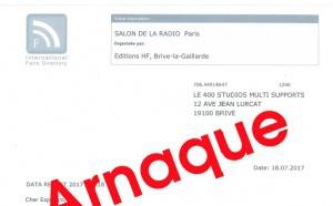 Salon de la Radio : attention aux arnaques