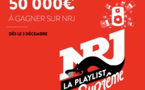 NRJ : 50 000 euros à gagner avec la Playlist Suprême