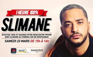 La radio 100% reçoit le chanteur Slimane