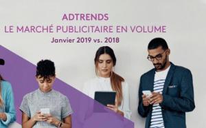 Le marché publicitaire en volume