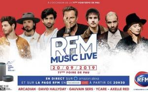 """Un """"RFM Music Live"""" à l'occasion de la Foire de Pau"""