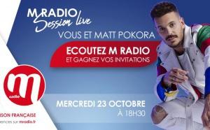 """M Radio : un """"M Radio Session Live"""" avec Matt Pokora"""