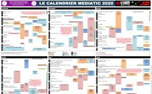 Le calendrier Mediatic est disponible gratuitement