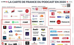 La carte de France du podcast en 2020