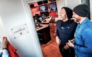 Virgin Radio : le groupe Coldplay baptise un studio à son nom