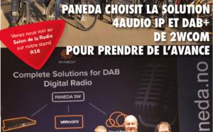 Paneda choisit la solution audio4 IP et DAB+ de 2wcom pour prendre de l'avance