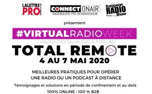 "Virtual Radio Week 2020 : du 4 au 7 mai en mode ""Total Remote"""
