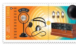 Canada : des timbres pour célébrer les 100 ans de la radio