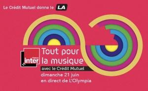"""""""Tout pour la musique"""" le 21 juin avec France Inter"""