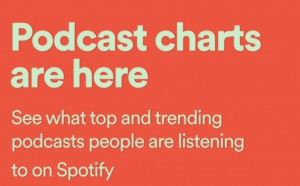 "Spotify lance un ""Top Podcasts"" et un ""Trending Podcasts"""