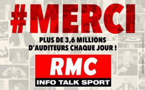 RMC : plus de 3.6 millions d'auditeurs quotidiens