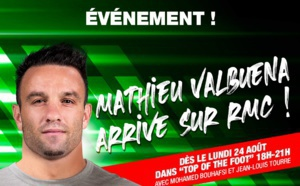 "Mathieu Valbuena arrive sur RMC dans ""Top of the Foot"""