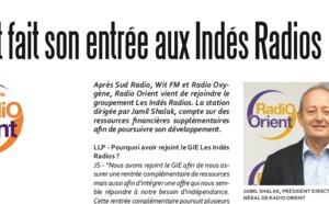 Orient fait son entrée aux Indés Radios