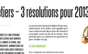 3 métiers – 3 résolutions pour 2013