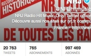 1 million de followers pour NRJ