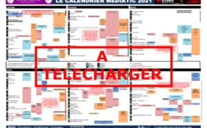 Le Calendrier Mediatic 2021 est disponible
